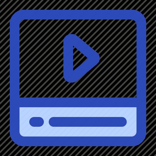 cinema, media, movie, play, video icon