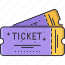 cinema, film, filming, movie, ticket icon