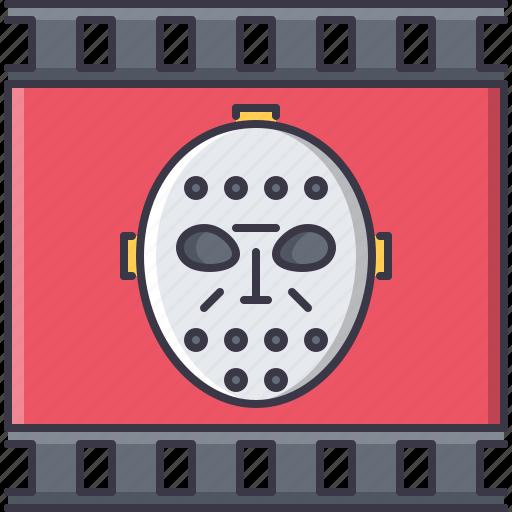 cinema, film, filming, horror, mask, movie icon