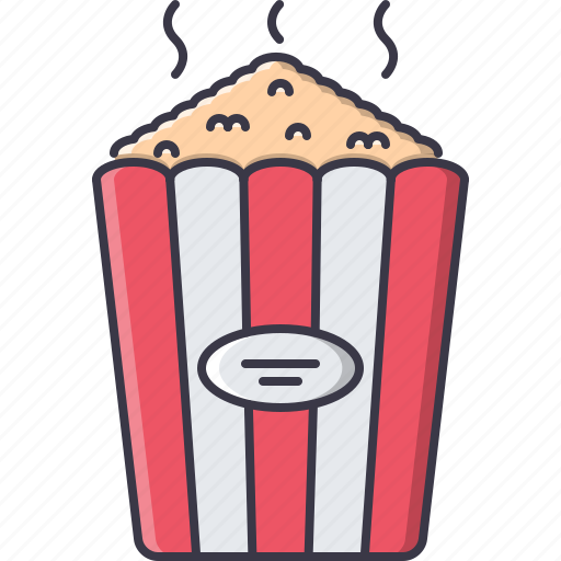 cinema, film, filming, movie, popcorn icon