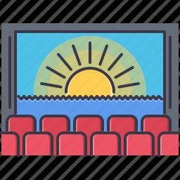 cinema, film, filming, movie, seat icon