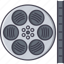 cinema, film, filming, movie, reel icon