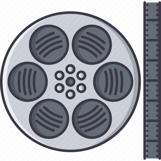 cinema, film, filming, movie, reel icon