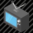 boob tube, entertainment media, old television, retro tv, vintage tv icon