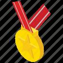 achievement, award, commemoration, honour, medal, star medal icon