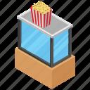 popcorn, junk food, zea mays everta, snacks, corn kernels icon
