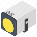 flood light, focus light, highlight, public attention, spot light icon