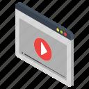 media option, multimedia, music video, paused video, video streaming