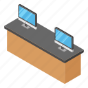 box office, ticket booth, ticket counter, ticket kiosk, ticketing corner icon