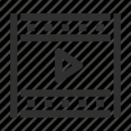 cinema, clip, film, media, movie, multimedia, play, player, video, videotape icon