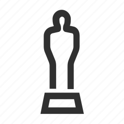 award, best, cinema, film, hollywood, movie, oscar, star, television, trophy, win icon