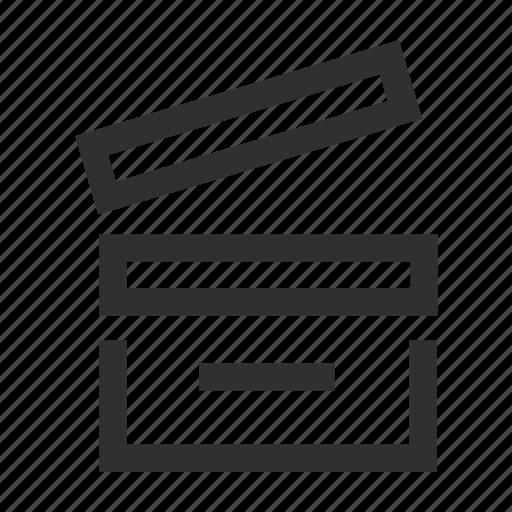 cinema, clip, film, movie, play, video, videotape icon
