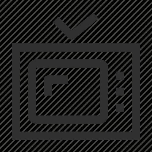 cinema, film, media, movie, multimedia, television, tv, video icon