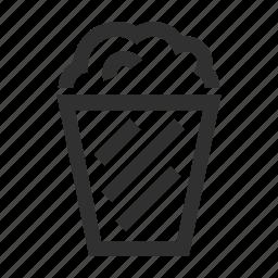 cinema, film, media, movie, popcorn, video icon