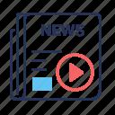 articles, news, newspaper, video