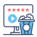 movie, popcorn, popular, ratings icon