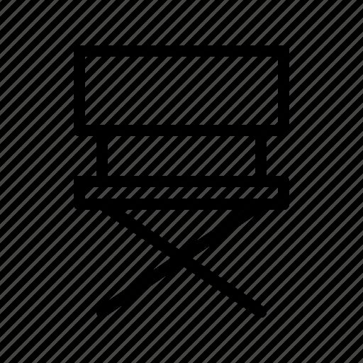 chair, cinema, director, movie icon