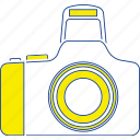 camera, equipment, lens, photo, photography, simple, thin icon