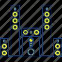 bass, black, concept, music, speaker, stereo, thin