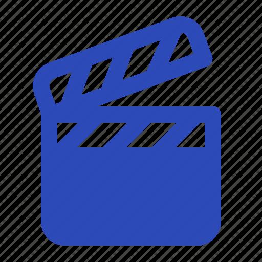 cinema, clapperboard, control, filmclipper, movie, stop, take icon