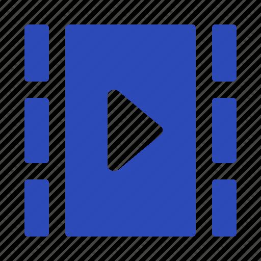cinema, film, filmstrip, media, movie, play icon