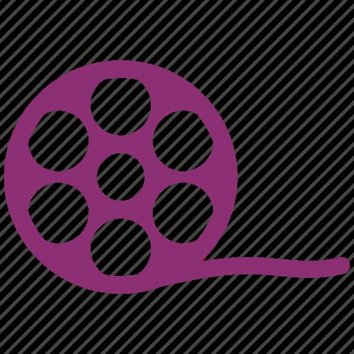 movie, movie theatre, roll, video icon