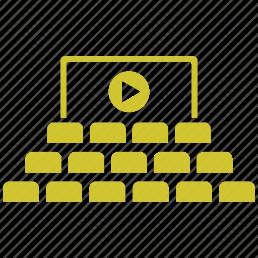 audience, cinema, cinema hall, movie, theater icon