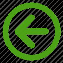 arrow, back, previous, right icon