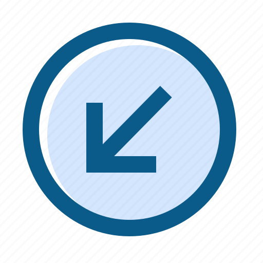 arrow, circle, directions, down, filled, left, line icon