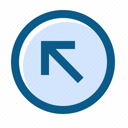 arrow, circle, directions, filled, left, line, up icon