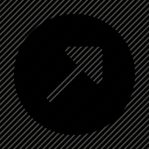 arrow, arrows, diagonal, direction, move, right, up icon