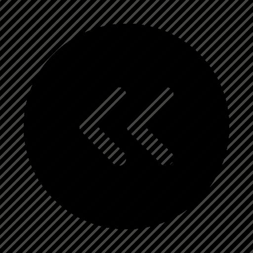 arrow, arrows, direction, move, rewind icon