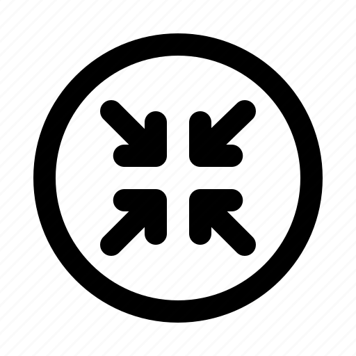 arrow, arrows, compress, diagonal, direction, move icon
