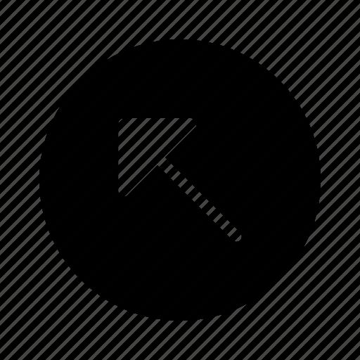 arrow, arrows, diagonal, direction, left, move, up icon