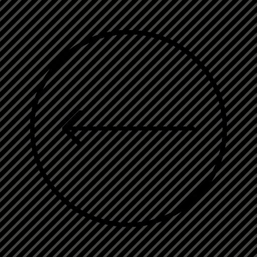 arrow, arrows, direction, left, move, thin icon