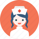 avatar, girl, hat, nurse, profile, woman