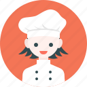 avatar, chef, girl, hat, profile, woman