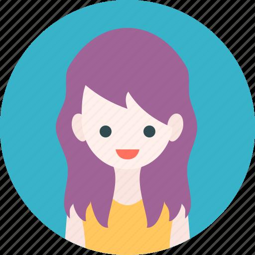 avatar, girl, profile, woman icon