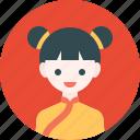 avatar, chinese, girl, profile, woman