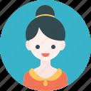 avatar, blouse, girl, profile, woman icon