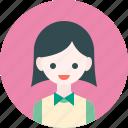 profile, butler, avatar, woman, girl, waiter