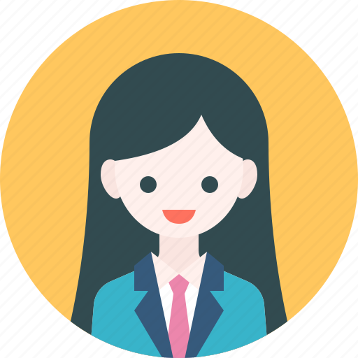 Avatar Woman: Avatar, Girl, Officer, Profile, Student, Suit, Woman Icon
