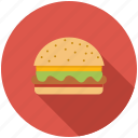 burger, dinner, eating, fast food, food, hamburger, kitchen icon