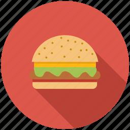 burger, dinner, eating, fast food, food, hamburger, kitchen icon