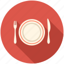 dinner, eating, food, kitchen, plate icon
