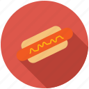 dinner, eating, food, kitchen, sausage icon