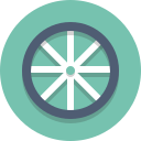 bike wheel, wheel icon