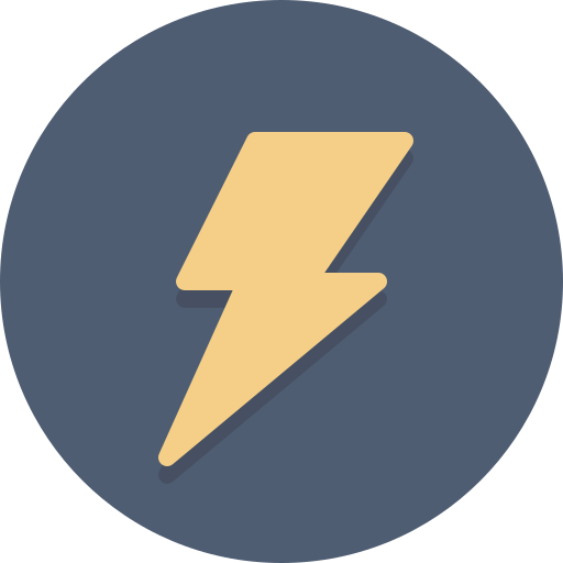 bolt, electricity icon