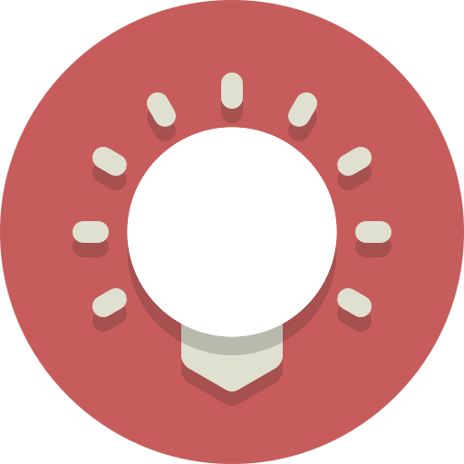 brightness, bulb, light bulb icon