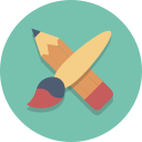 brush, edit, pencil icon